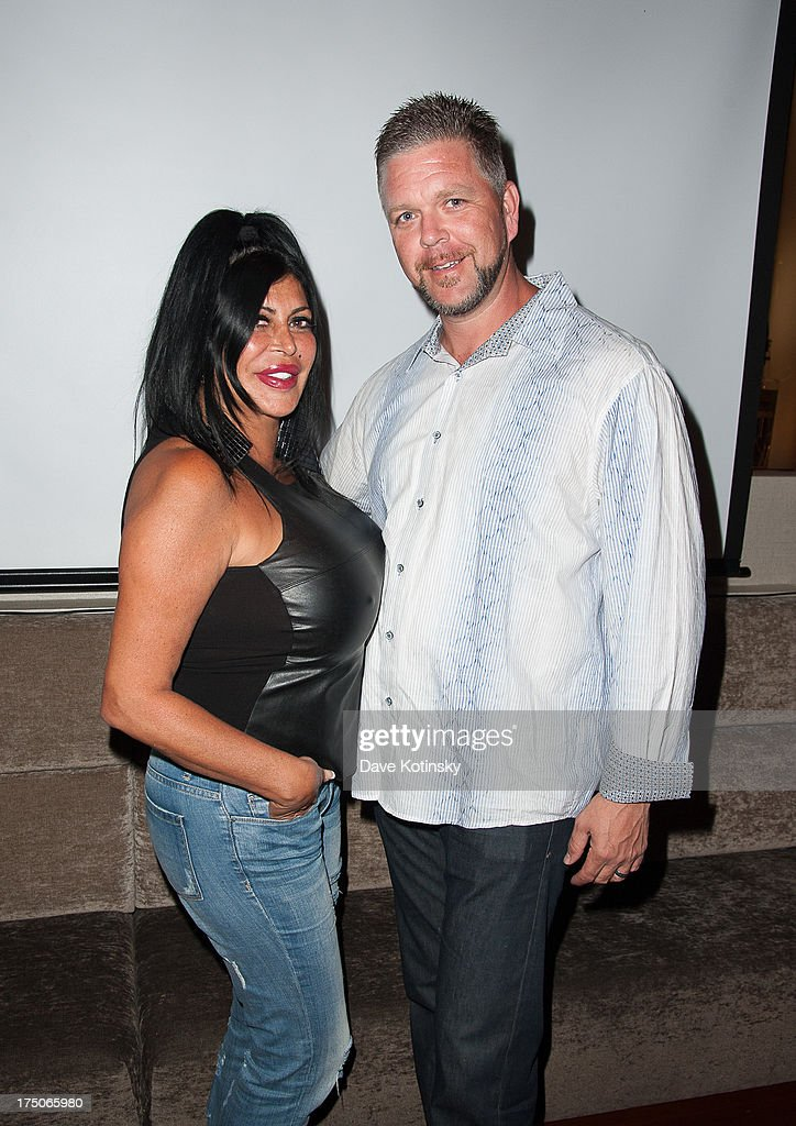 Angela 'Big Ang' Raiola and Husband Neil Murphy attends dinner and a movie at KTCHN Restaurant on July 30, 2013 in New York City.