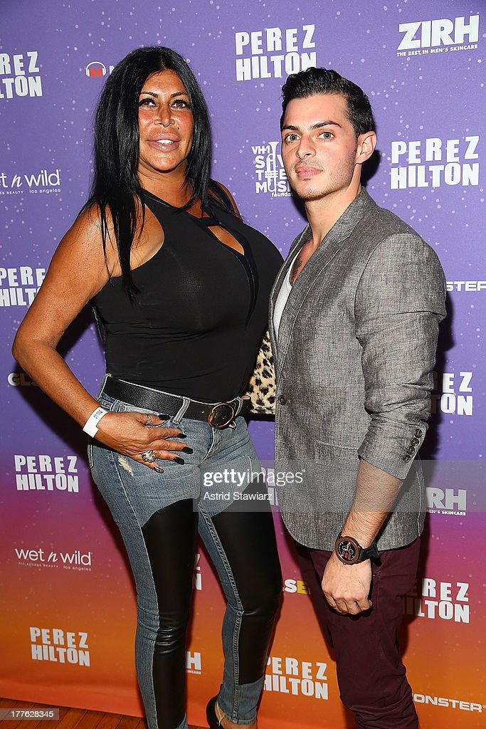 Angela 'Big Ang' Raiola and Louis Galletta attend Perez Hilton's One Night In Brooklyn at Music Hall of Williamsburg on August 24, 2013 in New York City.