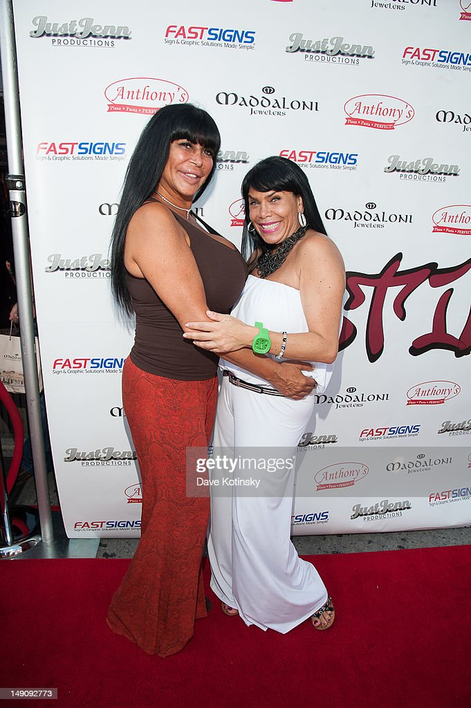 Angela '<a gi-track='captionPersonalityLinkClicked' href=/galleries/search?phrase=Big+Ang&family=editorial&specificpeople=8749866 ng-click='$event.stopPropagation()'>Big Ang</a>' Raiola and <a gi-track='captionPersonalityLinkClicked' href=/galleries/search?phrase=Renee+Graziano&family=editorial&specificpeople=7643222 ng-click='$event.stopPropagation()'>Renee Graziano</a> at Drunken Monkey on July 22, 2012 in New York City.