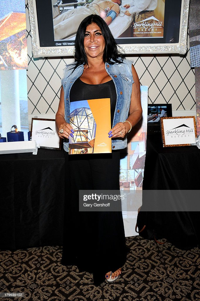 Angela 'Big Ang' Raiola attends the GBK Sparkling Resort Fashionable Lounge During New York Fashion Week at the Empire Hotel on September 7 2013 in...