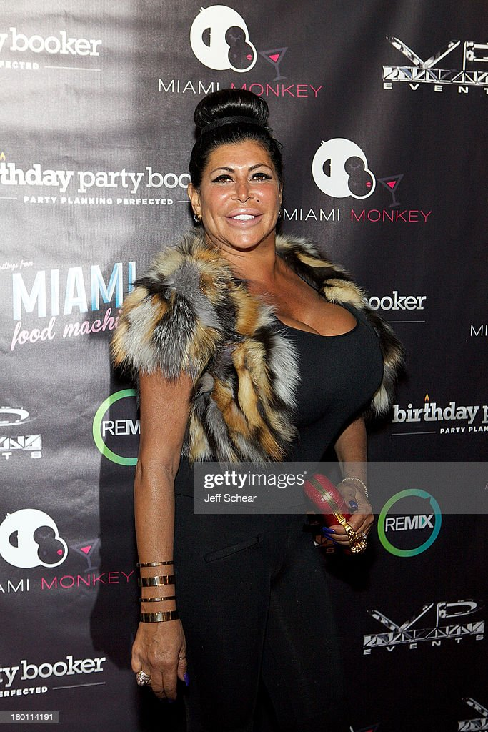Angela '<a gi-track='captionPersonalityLinkClicked' href=/galleries/search?phrase=Big+Ang&family=editorial&specificpeople=8749866 ng-click='$event.stopPropagation()'>Big Ang</a>' Raiola attends the MIAMI MONKEY Premiere Party Presented By JustJenn Productions And The Weinstein Company at 49 Grove on September 8, 2013 in New York City.