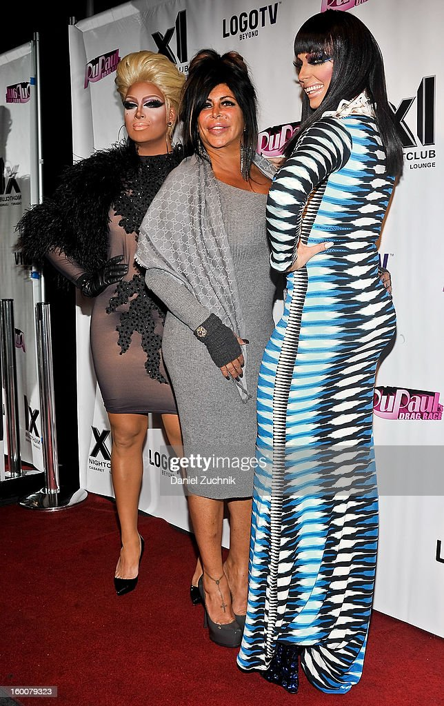 Angela '<a gi-track='captionPersonalityLinkClicked' href=/galleries/search?phrase=Big+Ang&family=editorial&specificpeople=8749866 ng-click='$event.stopPropagation()'>Big Ang</a>' Raiola (C) attends the 'RuPaul's Drag Race' season 5 party at XL Nightclub on January 25, 2013 in New York City.