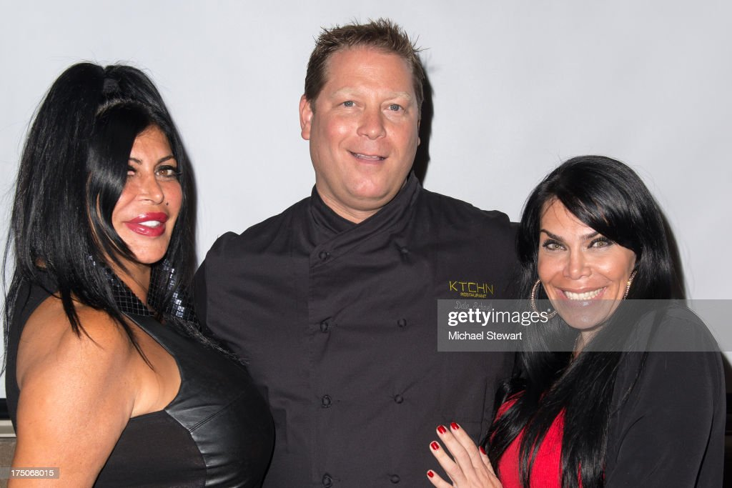 Angela '<a gi-track='captionPersonalityLinkClicked' href=/galleries/search?phrase=Big+Ang&family=editorial&specificpeople=8749866 ng-click='$event.stopPropagation()'>Big Ang</a>' Raiola, chef Dale Schnell and <a gi-track='captionPersonalityLinkClicked' href=/galleries/search?phrase=Renee+Graziano&family=editorial&specificpeople=7643222 ng-click='$event.stopPropagation()'>Renee Graziano</a> attend dinner and a movie at KTCHN Restaurant on July 30, 2013 in New York City.