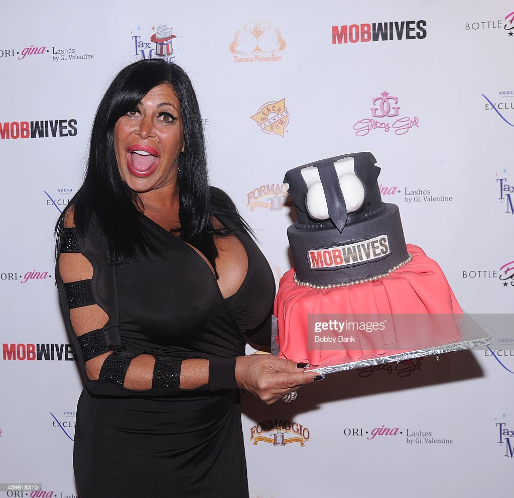 Angela 'Big Ang' Raiola of 'Mob Wives' attends 'Mob Wives' Season Five Viewing Party at Drunken Monkey on December 3 2014 in New York City