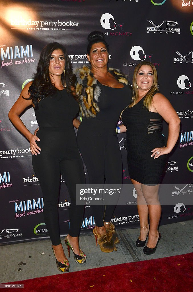 Angela 'Big Ang' Raiola, Raquel and Roxanne pose for photos during the 'Miaimi Monkey' New Screening at 49 Grove on September 8, 2013 in New York City.