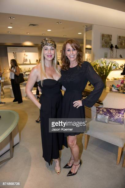 Angela Birdman and Laurie Hoffman attend Walk In Style For The Animals at 10022 Shoe at Saks Fifth Avenue Bal Harbour on November 15 2017 in Bal...
