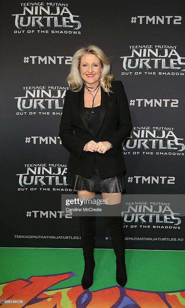 <a gi-track='captionPersonalityLinkClicked' href=/galleries/search?phrase=Angela+Bishop&family=editorial&specificpeople=220877 ng-click='$event.stopPropagation()'>Angela Bishop</a> arrives ahead of the Australian premiere of Teenage Mutant Ninja Turtles 2 at Event Cinemas George Street on May 29, 2016 in Sydney, Australia.