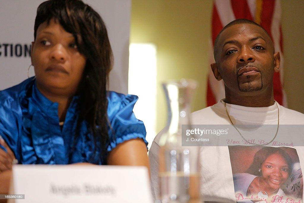 Angela Blakely and Herbert McFarlane parents of murder victim Janay McFarlane during the panal 'Gun Violence: Addressing Real Reform' during the 2013 NAN National Convention Day 1 at New York Sheraton Hotel & Tower on April 3, 2013 in New York City.