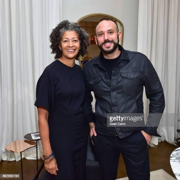 Angela Brown and Craig Strulovitz attend Tom Faulkner at Angela Brown Ltd on October 18 2017 in New York City