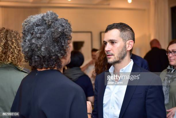 Angela Brown and Guest attend Tom Faulkner at Angela Brown Ltd on October 18 2017 in New York City