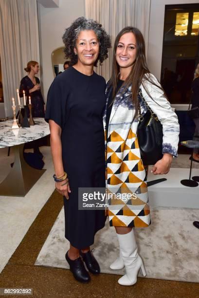 Angela Brown and Rachel Simone attend Tom Faulkner at Angela Brown Ltd on October 18 2017 in New York City