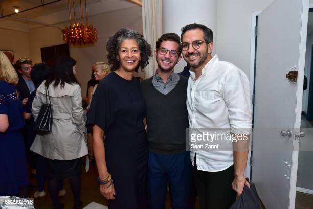 Angela Brown Paolo Andrade and Jonny Michaud attend Tom Faulkner at Angela Brown Ltd on October 18 2017 in New York City