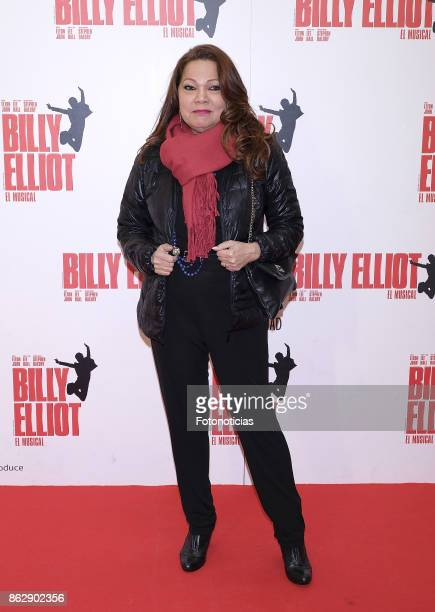 Angela Carrasco attends the 'Billy ElliotEl Musical' premiere at Nuevo Alcala Theater on October 18 2017 in Madrid Spain