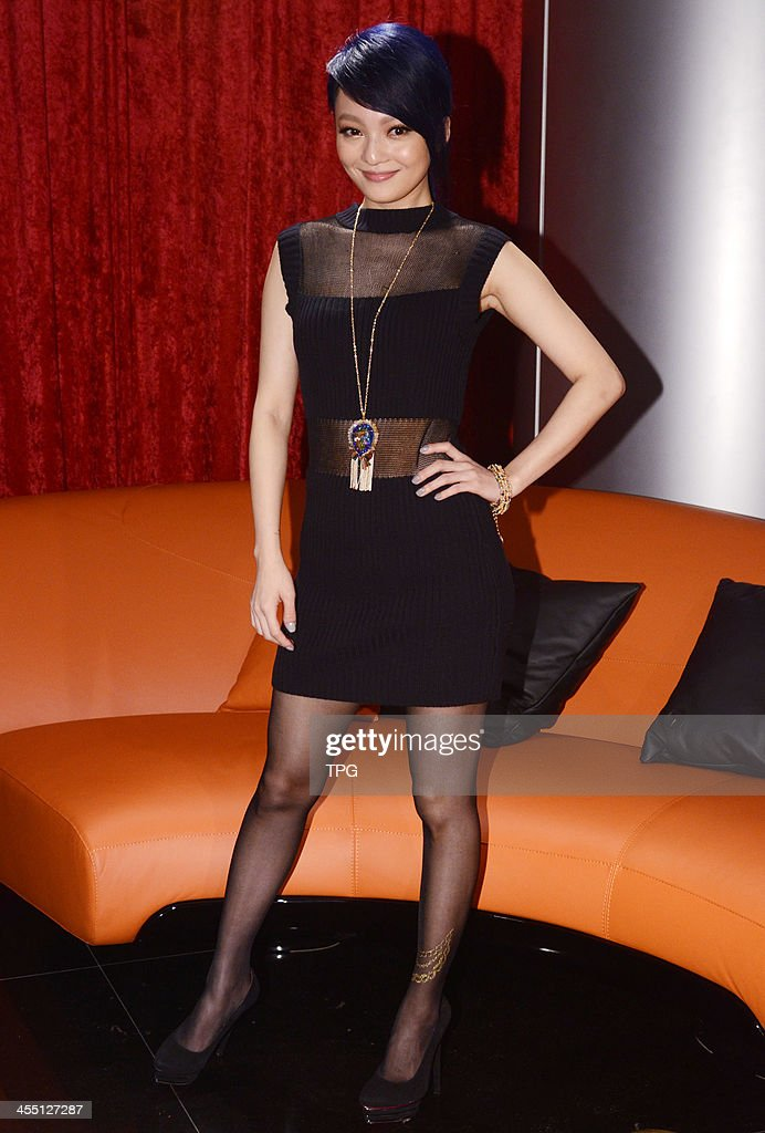 Angela Chang attends press coference of her coming new album on Tuesday December 10,2013 in Taipei,China.