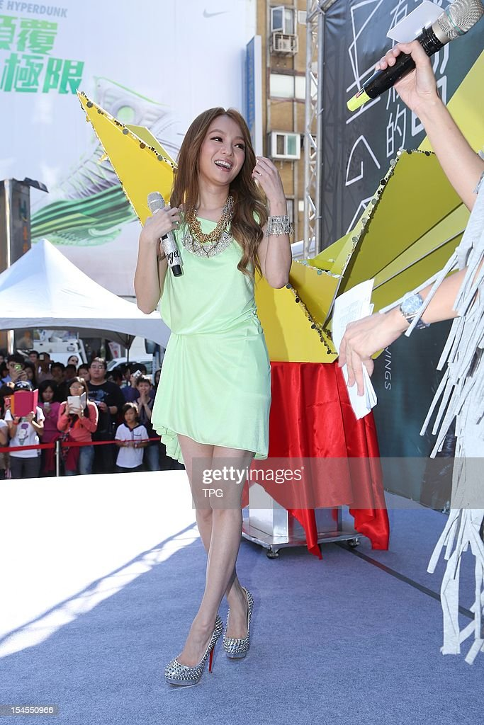 Angela Chang held a autograph signing activity of her new album on Sunday October 21, 2012 in Taipei, Taiwan, China