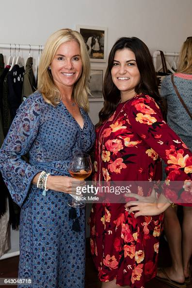 Angela Cortesio and Jacqueline Bosch attend Figue Hosts Cocktails Benefitting The Young Friends of the Palm Beach Symphony at Figue on February 19...