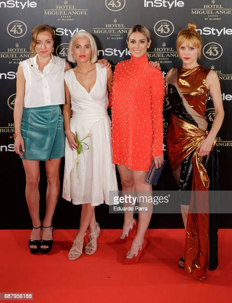 Angela Cremonte Ana Fernandez Blanca Suarez and Maggie Civantos attend the 'El Jardin del Miguel Angel' party photocall at Miguel Angel hotel on May...
