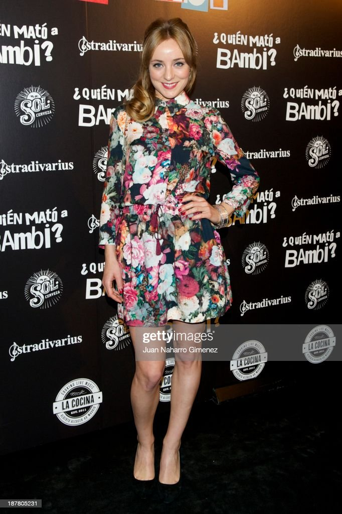 Angela Cremonte attends 'Quien Mato a Bambi?' premiere at La Cocina Rock Bar on November 12, 2013 in Madrid, Spain.