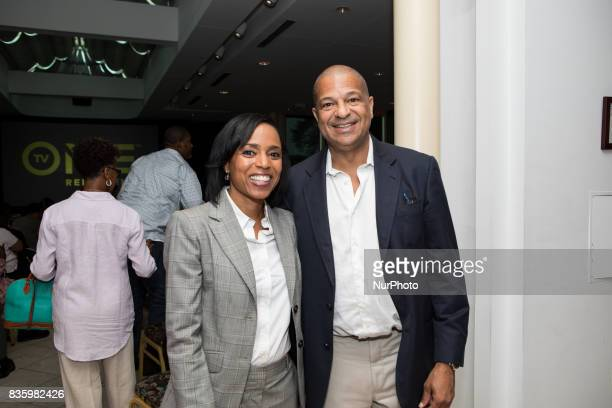 Angela D Alsobrooks State's Attorney Prnce George's County Maryland and Alfred C Liggins CEO President and Treasurer of Radio One Inc and CEO of TV...