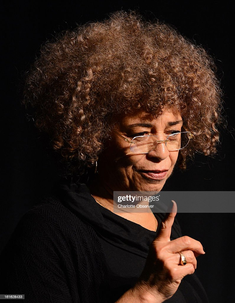 Angela Davis, a political activist, scholar and author, speaks to high school students from the Charlotte area, Wednesday, February 13, 2013, at the Booth Playhouse in Charlotte, North Carolina.