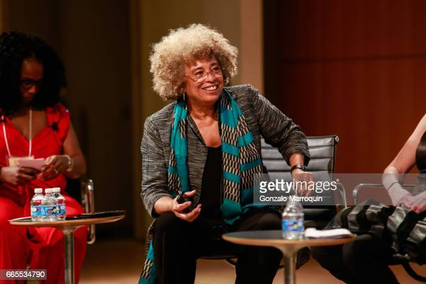 Angela Davis attends the Groundswell at 20 with Angela Davis at CUNY Graduate Center on April 6 2017 in New York City
