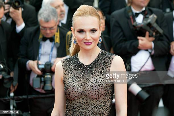 Angela Donava attends the 'Loving' red carpet arrivals during the 69th annual Cannes Film Festival at the Palais des Festivals on May 16 2016 in...