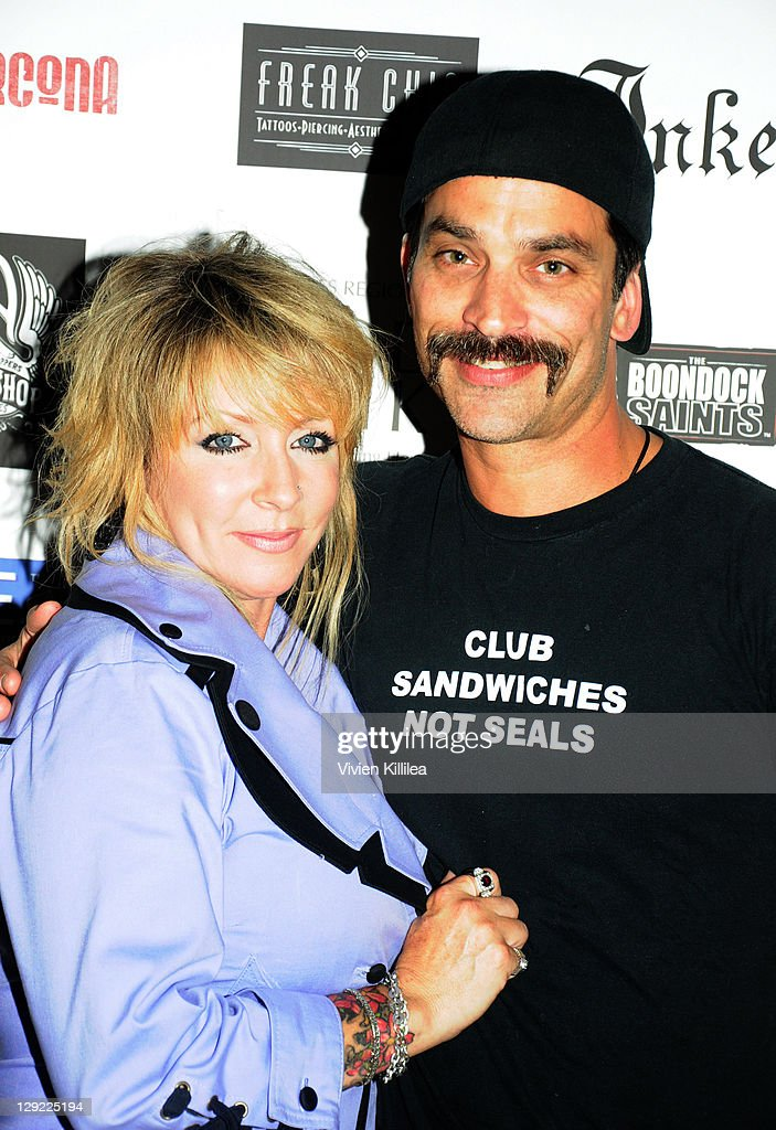 Angela Duffy and Bob Rubin attend 'The Boondock Saints' Bike Benefit at Tuff Sissy & Co on October 13, 2011 in Los Angeles, California.