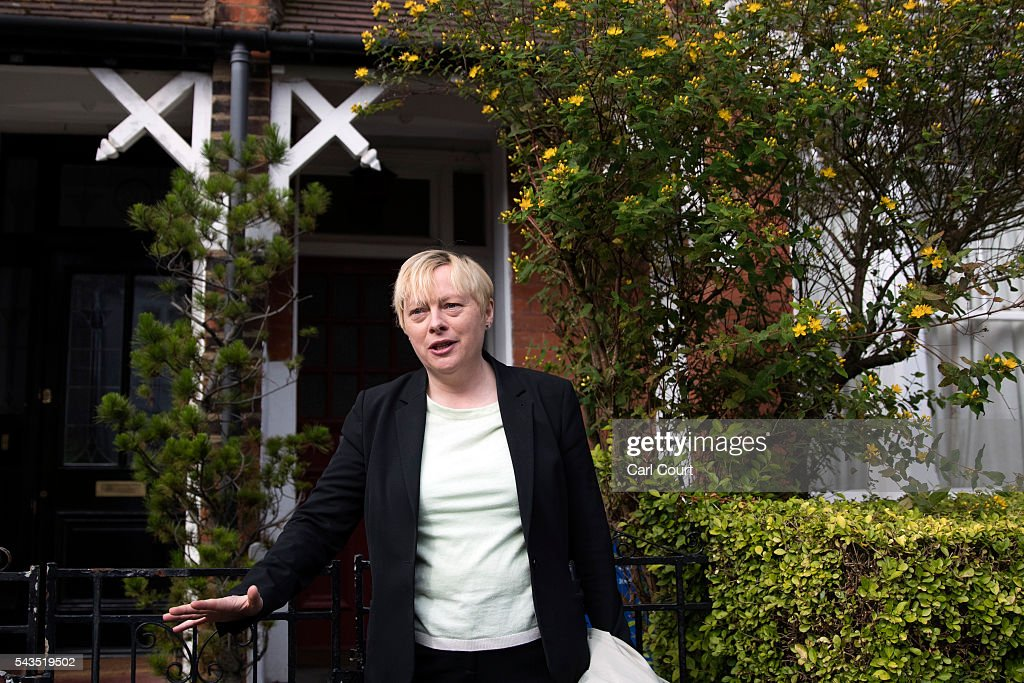 <a gi-track='captionPersonalityLinkClicked' href=/galleries/search?phrase=Angela+Eagle&family=editorial&specificpeople=2486372 ng-click='$event.stopPropagation()'>Angela Eagle</a>, the former shadow business secretary who resigned from the shadow cabinet on Monday, leaves her home on June 29, 2016 in London, England. Ms Eagle has emerged as a front-runner to replace embattled Labour Party leader Jeremy Corbyn as calls for him to step down continue following a motion of no confidence yesterday in which 172 MPs voted against him.