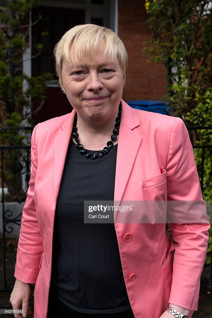 <a gi-track='captionPersonalityLinkClicked' href=/galleries/search?phrase=Angela+Eagle&family=editorial&specificpeople=2486372 ng-click='$event.stopPropagation()'>Angela Eagle</a>, the former shadow business secretary who resigned from the shadow cabinet on Monday, leaves her home on June 30, 2016 in London, England. Ms Eagle is widely expected to challenge Jeremy Corbyn for the Labour leadership today as calls continued for him to step down.