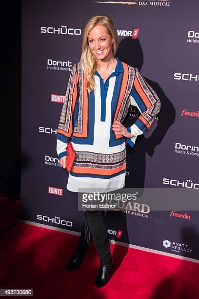 Angela FingerErben attends the 'Bodyguard Das Musical' gala premiere at Musical Dome Koeln on November 21 2015 in Cologne Germany