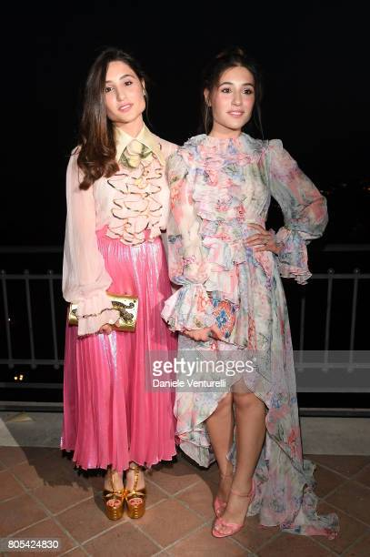 Angela Fontana and Marianna Fontana attend Nastri D'Argento 2017 Awards Ceremony on July 1 2017 in Taormina Italy