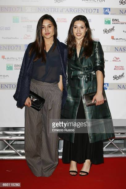 Angela Fontana and Marianna Fontana attend the nominees presentation of Nastri D'Argento at Maxxi Museum on June 6 2017 in Rome Italy