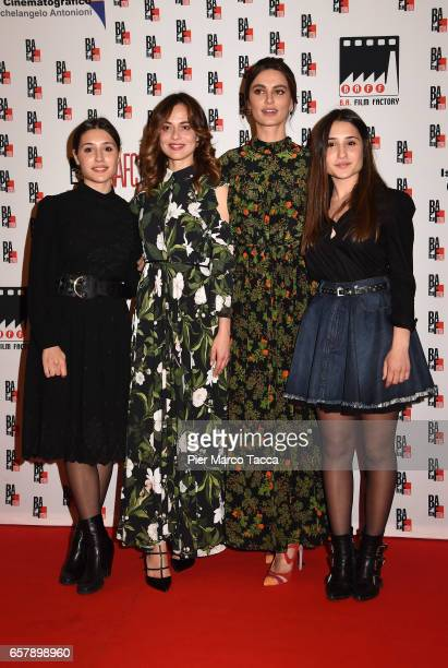 Angela Fontana Valeria Bilello Catrinel Marlon Menghia and Marianna Fontana attend the BAFF Busto Arsizio Film Festival red carpet on March 25 2017...