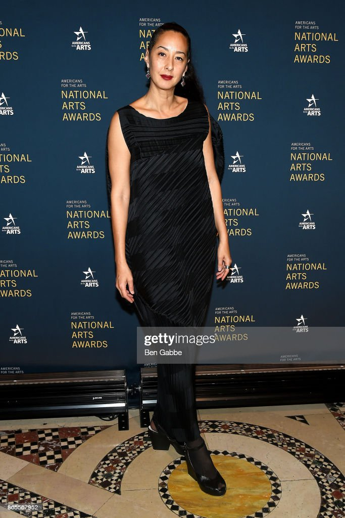 Angela Goding attends the National Arts Awards at Cipriani 42nd Street on October 23, 2017 in New York City.
