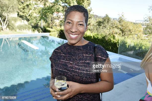 Angela Green attends the Barclays Uber Visa Card Launch Party in the Hollywood Hills on November 18 2017 in Los Angeles California