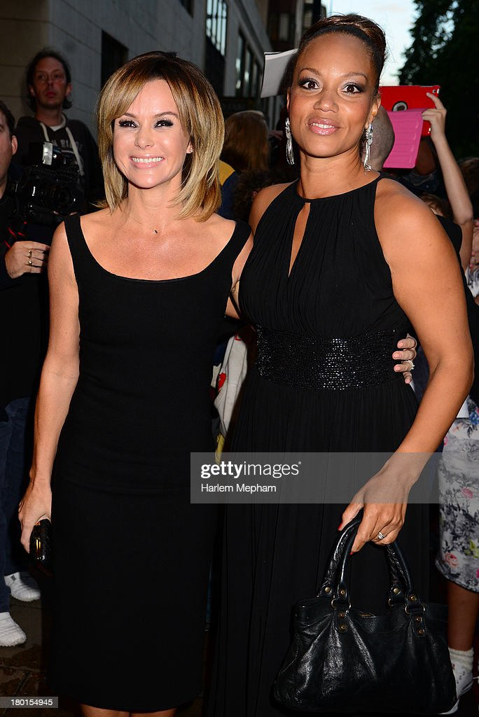 <a gi-track='captionPersonalityLinkClicked' href=/galleries/search?phrase=Angela+Griffin&family=editorial&specificpeople=239170 ng-click='$event.stopPropagation()'>Angela Griffin</a> and <a gi-track='captionPersonalityLinkClicked' href=/galleries/search?phrase=Amanda+Holden&family=editorial&specificpeople=202922 ng-click='$event.stopPropagation()'>Amanda Holden</a> sighting at the Dorchester Hotel on September 9, 2013 in London, England.