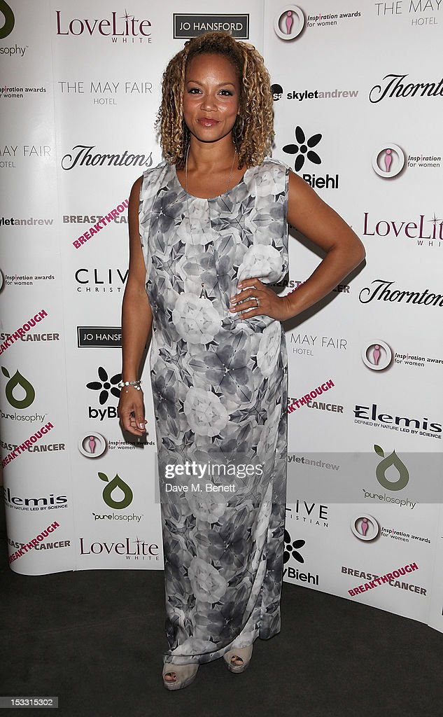 Angela Griffin arrives at The Inspiration Awards For Women 2012 at Cadogan Hall on October 3, 2012 in London, England.