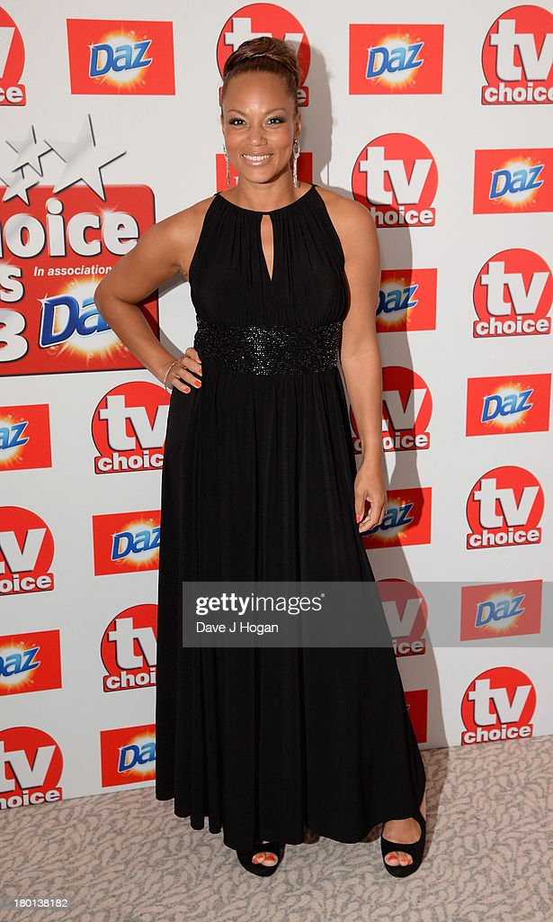 Angela Griffin attends the TV Choice Awards 2013 at The Dorchester on September 9, 2013 in London, England.