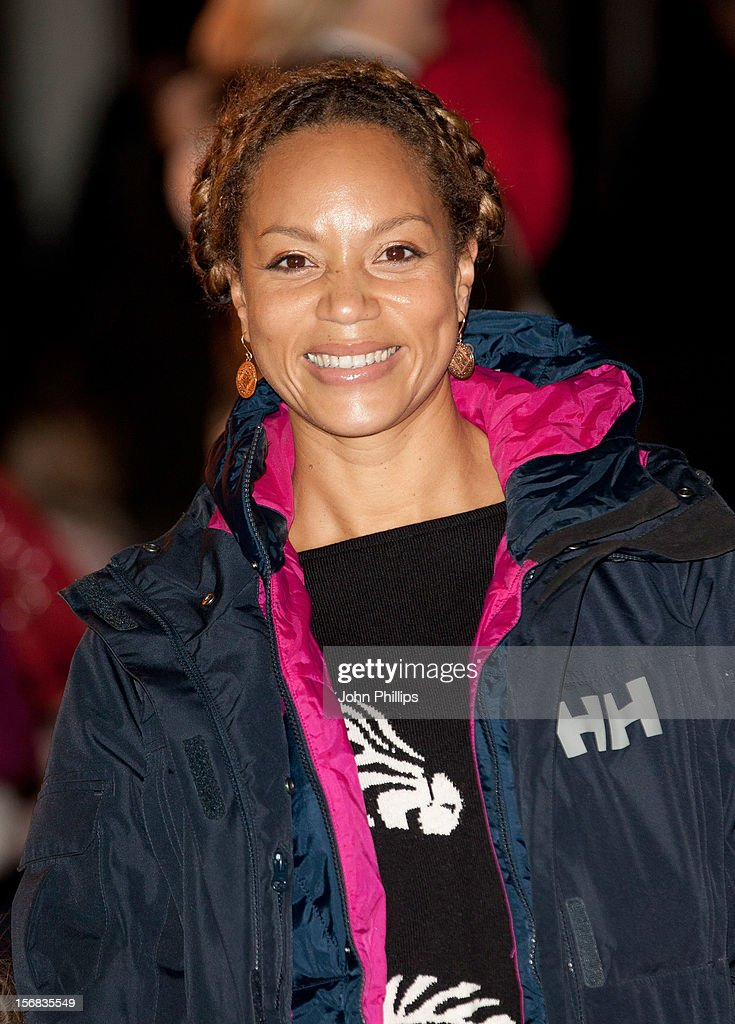 Angela Griffin attends the Winter Wonderland launch party at Hyde Park on November 22, 2012 in London, England.