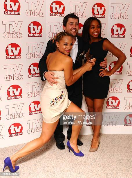 SEPTEMBER 2009 Angela Griffin Jason Done and Zaraah Abrahams from Waterloo Road with the Best Family Drama award at the Dorchester Hotel Park Lane...
