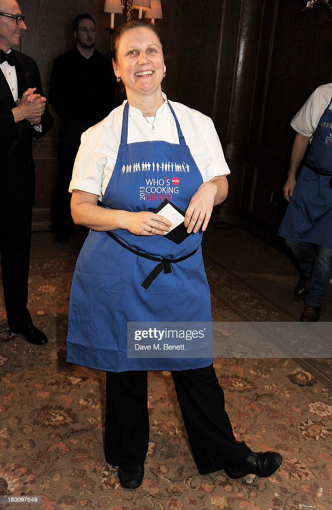 Angela Hartnett attends the 'Who's Cooking Dinner?' charity event, featuring 20 of the capital's finest chefs cooking dinner for 200 diners in aid of leukaemia charity Leuka, at the Four Seasons Hotel on March 4, 2013 in London, England.
