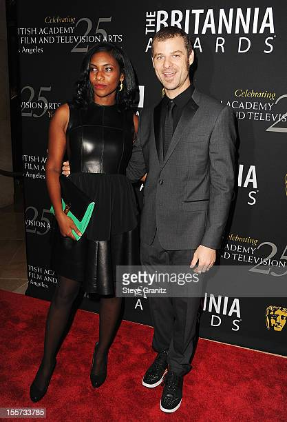 Angela Howard and honoree Matt Stone arrive at BAFTA LA 2012 Britannia Awards Presented By BBC America at The Beverly Hilton Hotel on November 7 2012...
