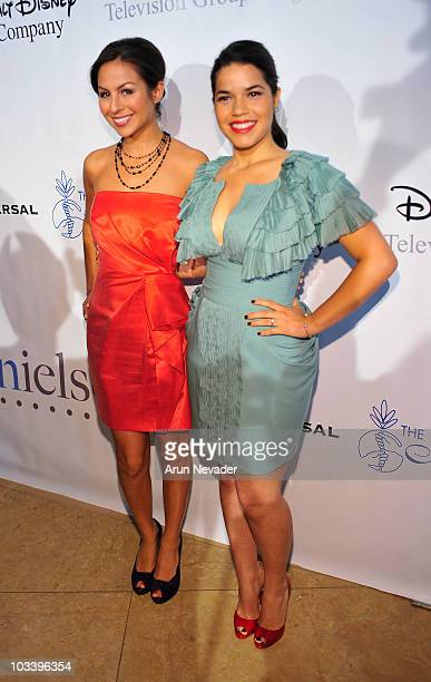 Angela Johnson and actress America Ferrera attend 25th Annual Imagen Awards Arrivals on August 15 2010 in Beverly Hills California