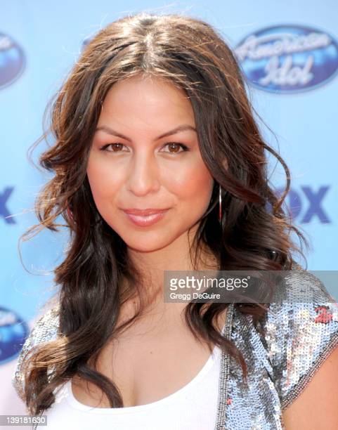 Angela Johnson arrives at the American Idol Season 8 Finale held at the Nokia Theatre LA Live on May 20 2009 in Los Angeles California
