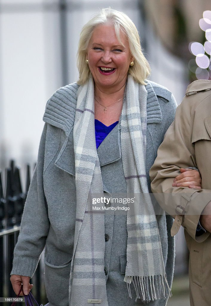 Angela Kelly (Personal Assistant and Senior Dresser to Queen Elizabeth II) leaves the Goring Hotel after attending a Christmas Lunch hosted by Queen Elizabeth II for her close members of staff on December 03, 2012 in London, England.