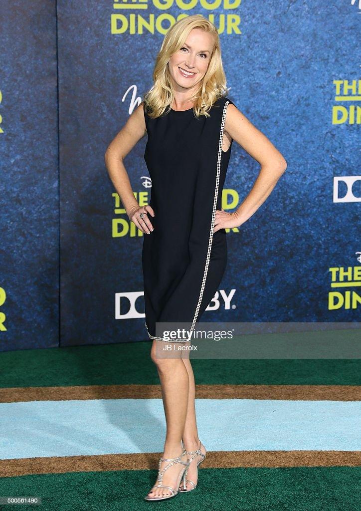 Angela Kinsey arrives at the premiere of Disney-Pixar's 'The Good Dinosaur' on November 17, 2015 in Hollywood, California.