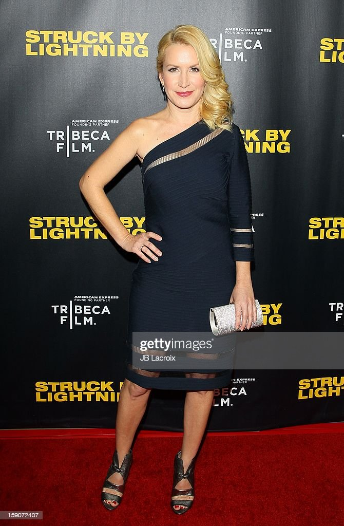 Angela Kinsey attends the 'Struck By Lighting' premiere held at Mann Chinese 6 on January 6, 2013 in Los Angeles, California.