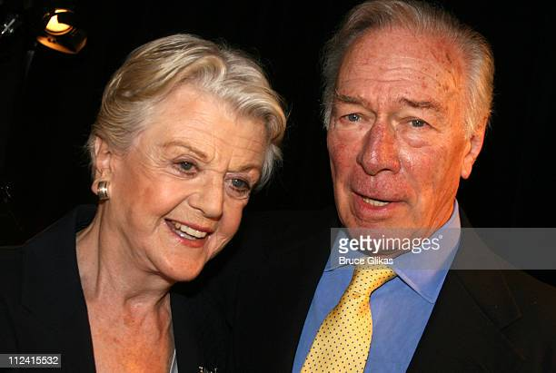 Angela Lansbury and Christopher Plummer during 2007 Tony Award Nominee Press Reception at The Marriott Marquis in New York New York United States