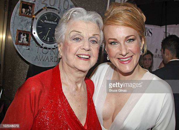 Angela Lansbury and Katie Finneran attend the 64th Annual Tony Awards at Radio City Music Hall on June 13 2010 in New York City