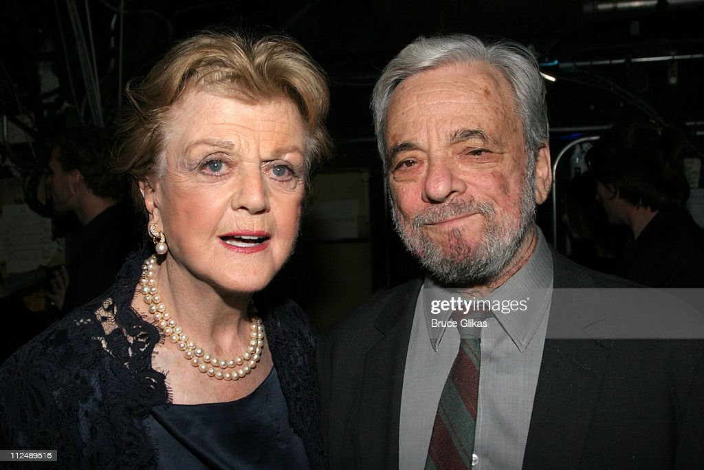 Angela Lansbury and Stephen Sondheim during The All-Star Stephen Sondheim 75th Birthday Celebration 'Children and Art' - Inside at Broadway's New Amsterdam Theatre in New York City, New York, United States.